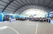 Deputado Aélcio da TV inaugura cobertura da Quadra na Escola Mariana
