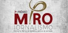 Vencedores do 7º Prêmio MPRO de Jornalismo serão anunciados na segunda-feira