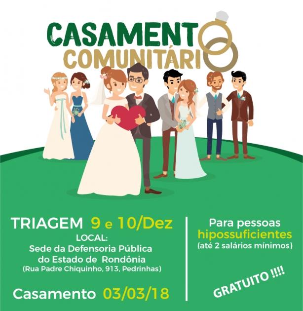 Casamento comunitário selecionará 300 casais de Porto Velho para regularizar união