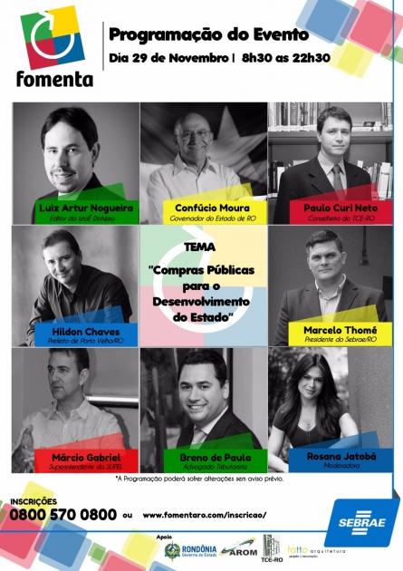 Fomenta Rondônia congrega renomados profissionais para discutir compras do poder público pelas micro e pequenas empresas