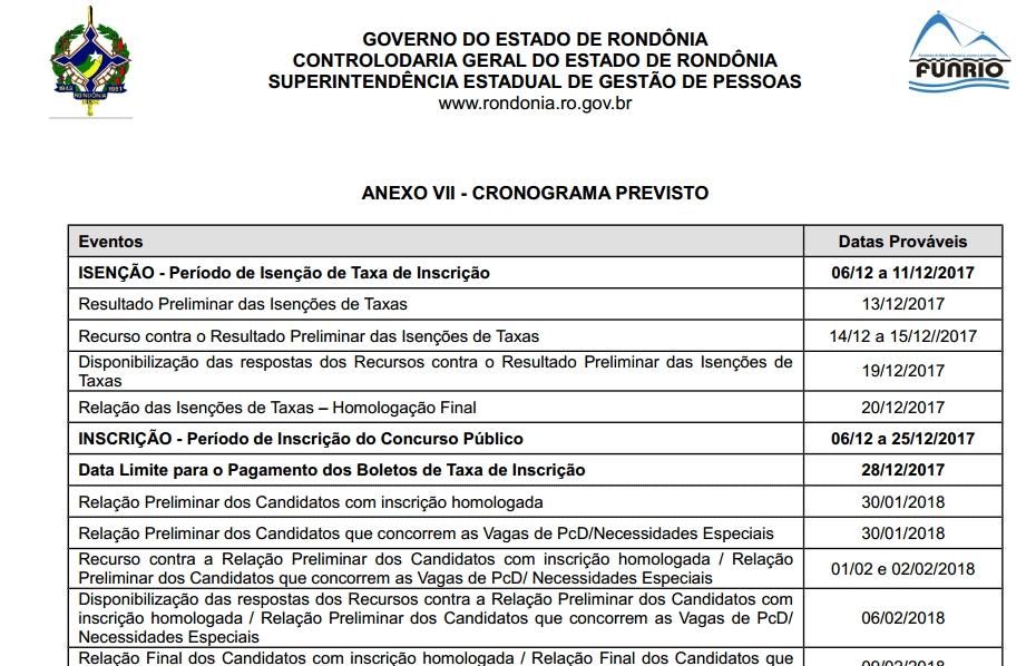 Confira o edital do concurso da Controladoria Geral do Estado de Rondônia com 12 vagas efetivas