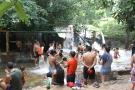 Centenas de famílias passaram o domingo no balneário cachoeirinha