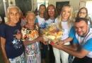 Primeira-dama Ieda Chaves entrega 600 cestas básicas