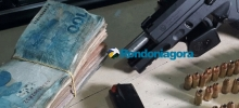 Monitorado por tornozeleira é preso armado e com R$ 7.500 em carro