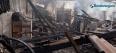 Imagens mostram dimensão do incêndio no centro de correição da PM em Rondônia