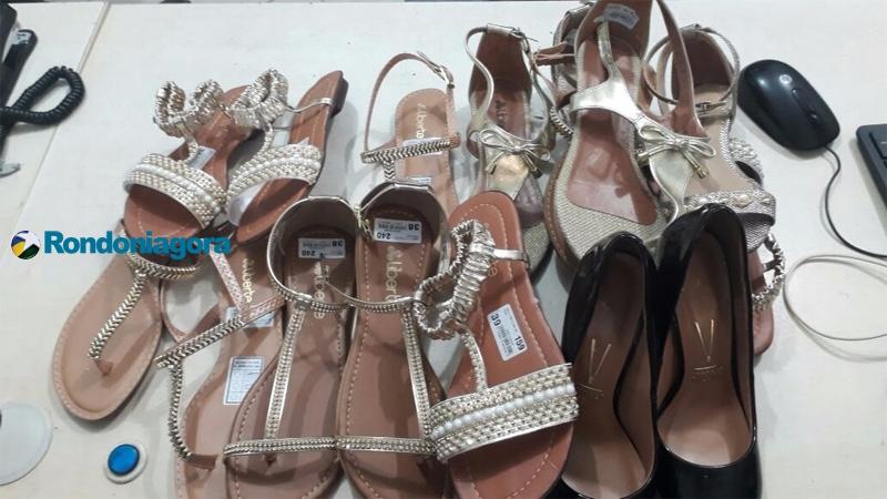 Homem é preso furtando 8 pares de sandálias no shopping