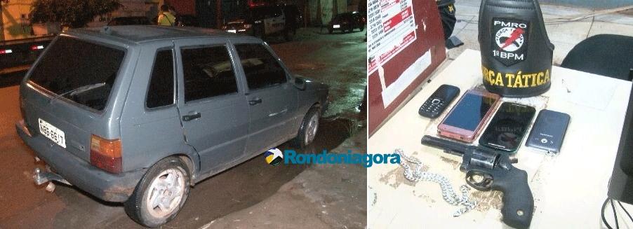 Trio é preso acusado de vários roubos em Porto Velho