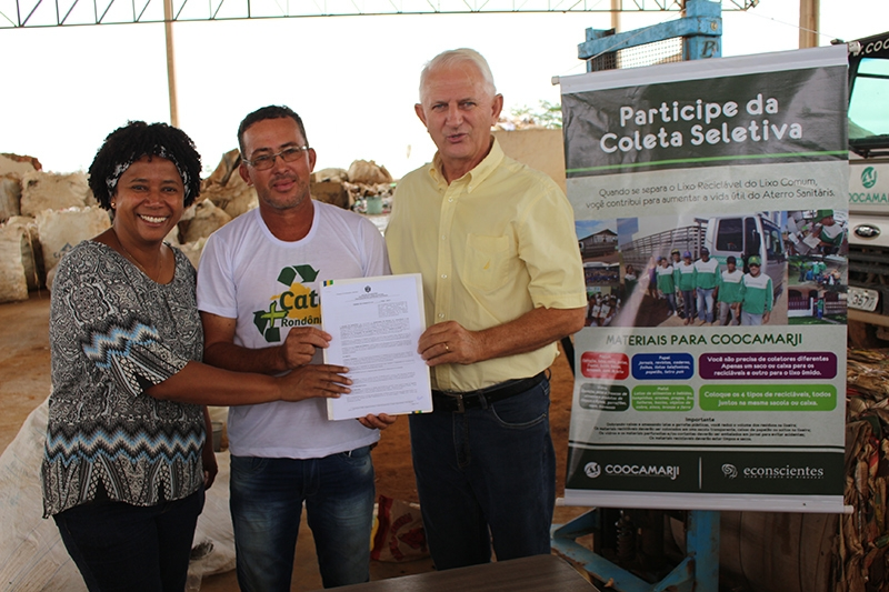 Emenda do Airton Gurgacz garante recursos para cooperativa de catadores de recicláveis
