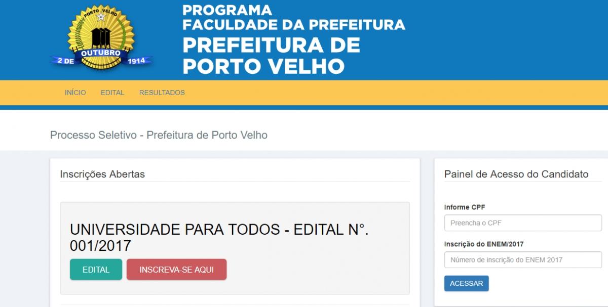 Confira link para inscrições na seleção de candidatos a bolsas integrais no programa Universidade da Prefeitura