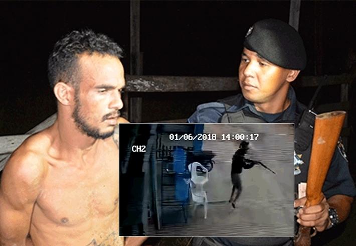 Bandido perigoso libertado na saída temporária do Natal faz arrastão e atira em PM e comparsa