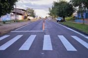 Prefeitura de Ji-Paraná sinaliza ruas que receberam recapeamento