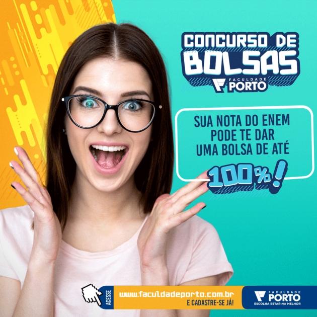Faculdade Porto oferece mais de 600 bolsas de estudo em cursos de graduação