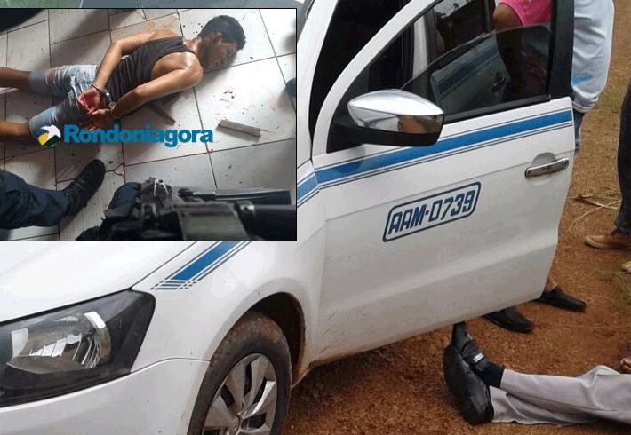 Viciado mata taxista de 70 anos com cinco facadas durante assalto na Capital; fotos