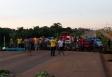 Taxistas bloqueiam BR-425 em protesto por mais segurança
