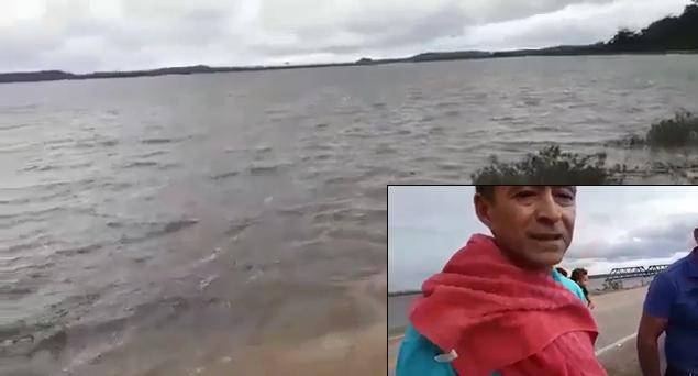 Vídeo: Pálio que caiu no Madeira seguia de Porto Velho à Nova Mamoré