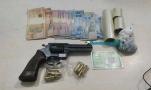 Casal é preso com arma e drogas na Zona Sul