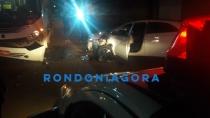 Mulher desvia de buracos e causa grave acidente em Porto Velho