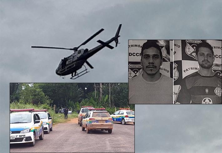 Presos os criminosos que roubaram caminhonete e tentaram derrubar o helicóptero da PM