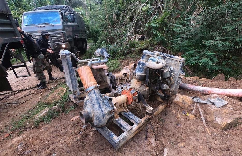 PF combate garimpo de diamantes em terra indígena e diz haver índios Suruís envolvidos no crime