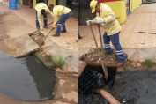 Semusb desobstrui bueiros na Zona Leste de Porto Velho