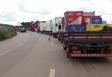 Vídeos: Caminhoneiros protestam na BR-364 em Rondônia contra os constantes aumentos dos combustíveis