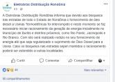 Eletrobras inicia racionamento de energia em município de Rondônia por falta de combustível