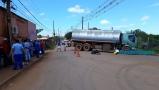 Vídeo: Protesto no Trevo do Roque é encerrado, mas Estrada do Belmont e BR-364 seguem bloqueadas