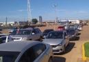 Fechamento de bases de distribuição de combustível continua e começa a faltar gasolina e diesel na Capital; fotos