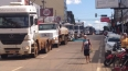 Ao vivo: Caminhoneiros protestam na Capital; população apoia