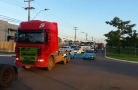 Confira fotos e vídeos da carreata dos caminhoneiros em Porto Velho