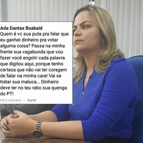 Justiça condena vereadora Ada Dantas a um mês de prisão por ataques a professora no Facebook