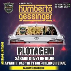 Humberto Gessinger: garanta ingresso para o show adesivando seu carro