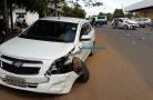 Grave colisão entre carros em cruzamento da Capital