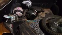 Vídeo: Polícia descobre esconderijo e recupera quatro motos roubadas; uma pessoa é presa