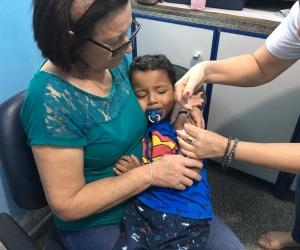 Vacinação contra sarampo e pólio segue até às 17 horas nas unidades de saúde de Porto Velho