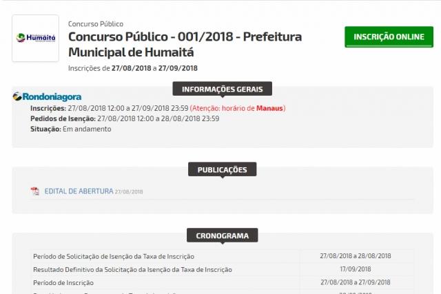 Prefeitura de Humaitá, AM, abre inscrições para concurso com cargos de níveis médio e superior