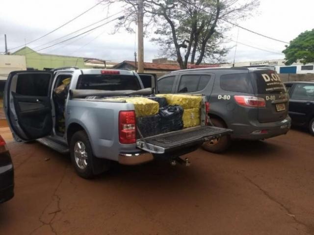 Morador de Porto Velho é preso com mais de uma tonelada de maconha no Mato Grosso do Sul