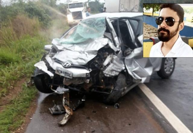 Agente penitenciário e mais duas pessoas morrem em acidente entre carro e ônibus na BR-364