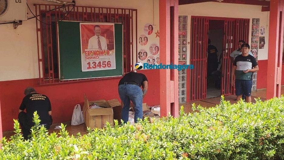Fotos e vídeo: PF e Justiça Eleitoral fazem buscas nas sedes do PT e PSOL