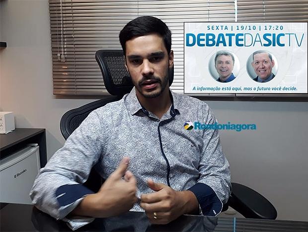 Debate da Sic TV na sexta-feira, vai ter só confrontos entre Expedito Júnior e Marcos Rocha