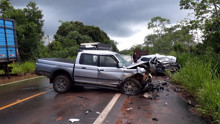 Casal morre em acidente na BR-364