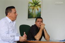 Líderes e moradores do setor agrícola buscam a recuperação de estradas através do vereador Edesio Fernandes.