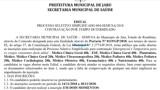 Prefeitura de Jaru abre inscrições para selecionar profissionais da saúde com salários de até R$ 6,5 mil