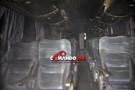 Ônibus da Eucatur pega fogo em Ji-Paraná