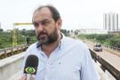 Laerte Gomes fiscaliza obra da ponte sobre o rio Urupá em Ji-Paraná