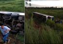 Ônibus tomba com acadêmicos na BR-364 e deixa feridos