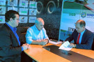 Ezequiel Júnior e prefeito Leomar assinam convênios de R$ 311 mil para Machadinho