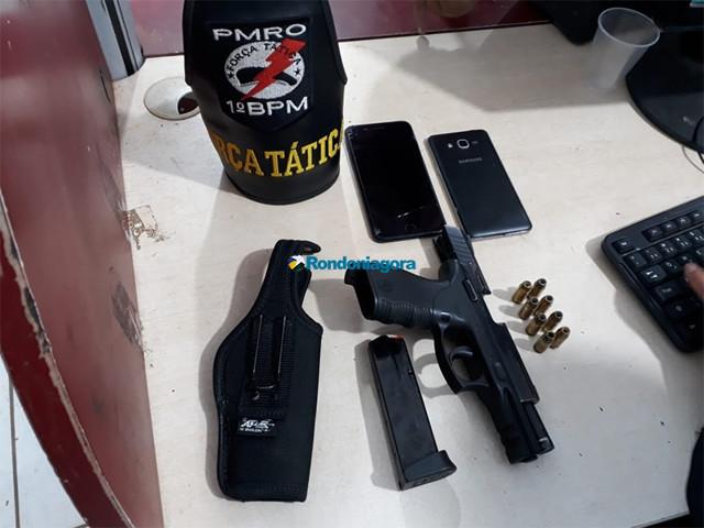 Empresário é preso com pistola de uso restrito