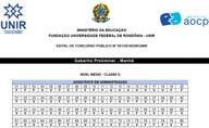 Confira os gabaritos do concurso da UNIR 2018