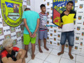 PM prende bandidos que tentaram matar comerciante durante assalto em comércio